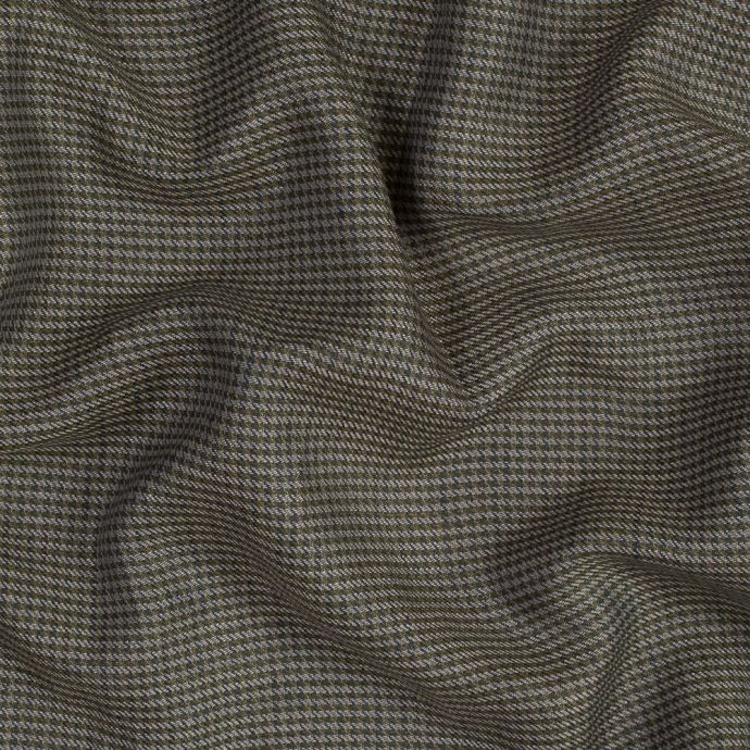 Olive, Navy and Plaid Tattersall Shepherd's Check Linen Twill