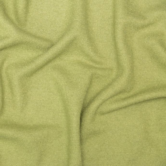 Grass Green Solid Boiled Wool