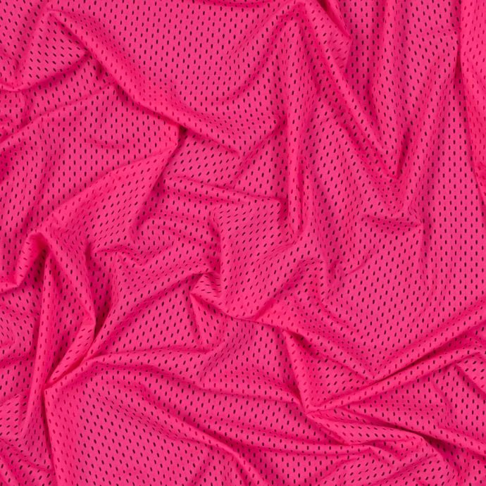 Neon Pink Stretch Athletic Mesh