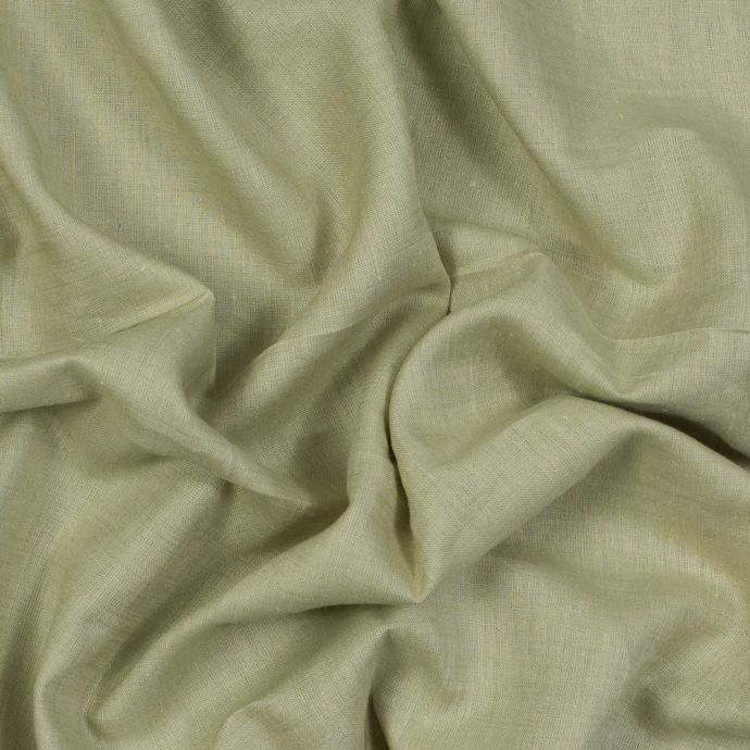 Sanremo Mint and Beige Two-Tone Linen Woven