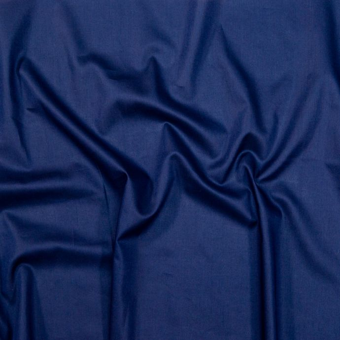 Toulouse Navy Mercerized Organic Cotton Voile