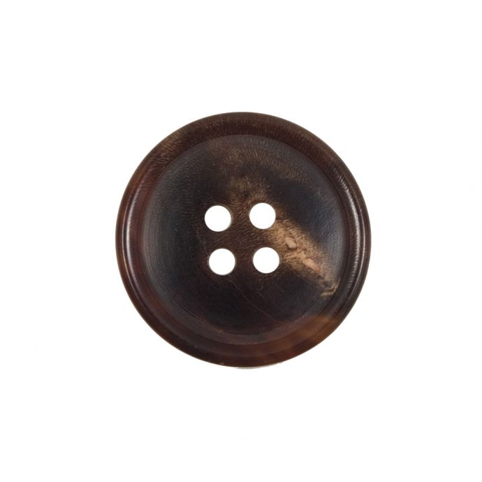 Brown Horn 4-Hole Button - 36L/23mm
