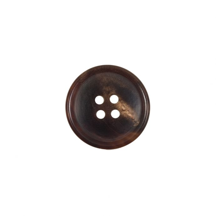 Brown Horn 4-Hole Button - 24L/15mm