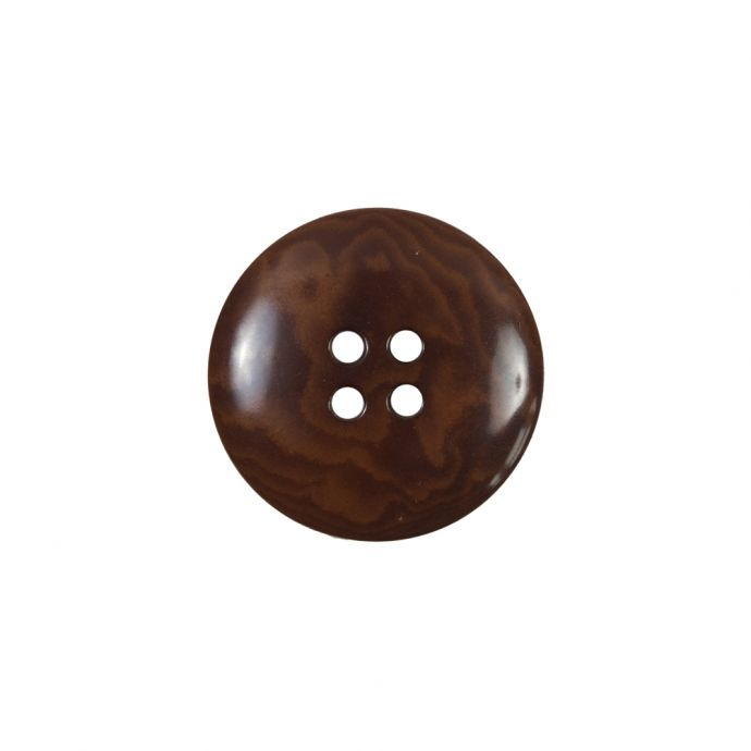 Amber 4-Hole Horn Button - 30L/19mm