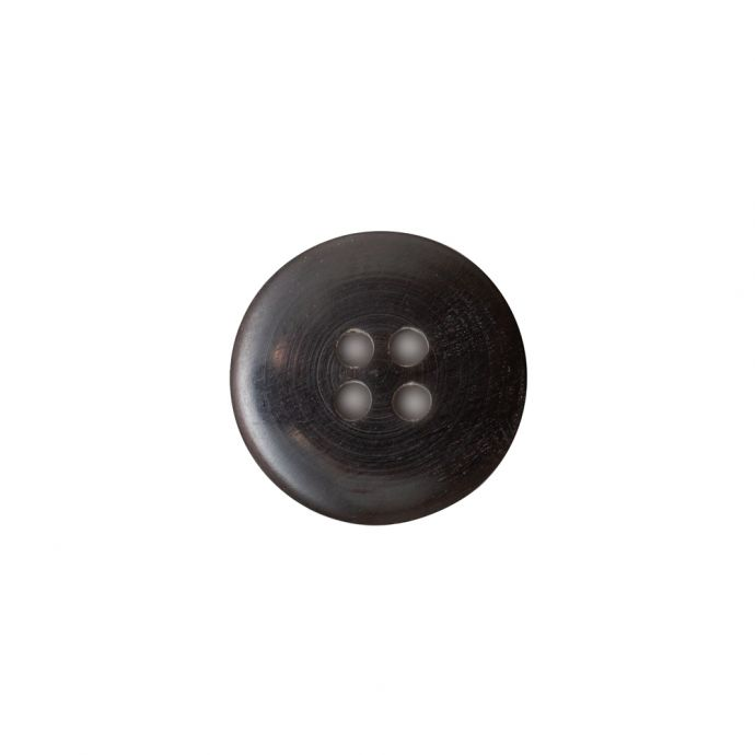 Black and Natural Horn Button - 24L/15mm