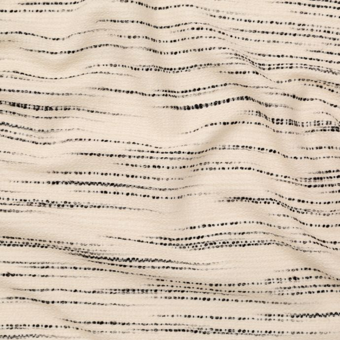 Black Bean and Buttercream Striated Cotton Tweed