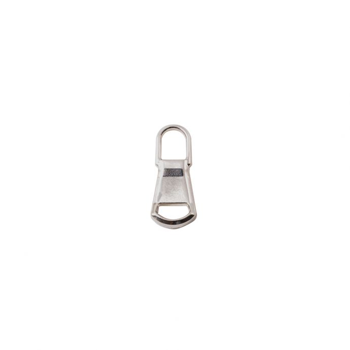 Mood Exclusive Italian Small Silver Rounded Edge Metal Zipper Pull
