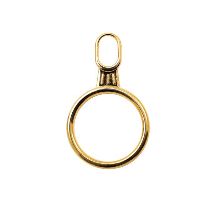Mood Exclusive Italian Large Gold Round Metal Zipper Pull