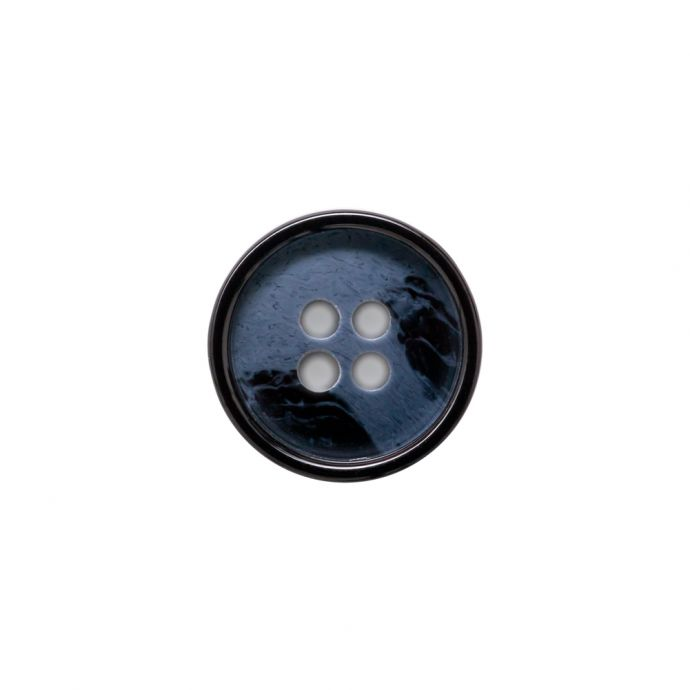 Italian Navy Abtract 4-Hole Plastic Button - 24L/15mm