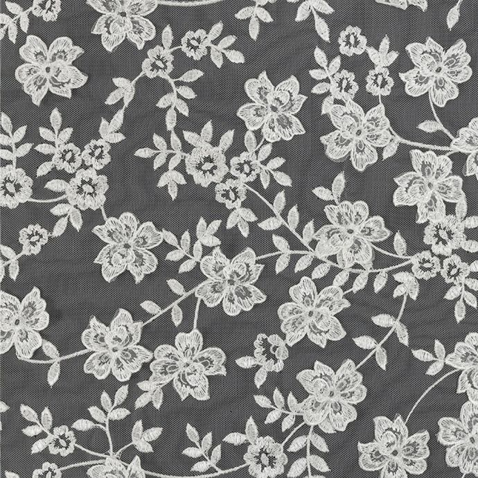 Angelo White Floral Embroidered Lace