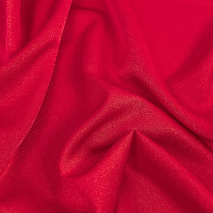 Isla Red Lux Polyester Crepe Back Satin