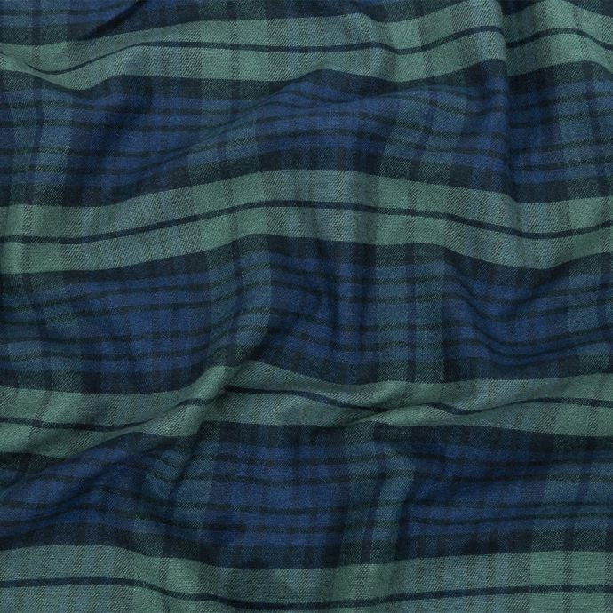Pine Grove and Black Iris Plaid Brushed Cotton Woven