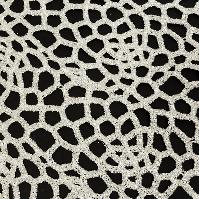 Luxury Off-White Thick Webbed Guipure Lace with Silver Glitter Topcoat