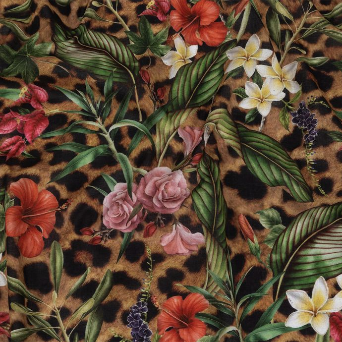 Toulouse Floral and Fauna Mercerized Organic Egyptian Cotton Voile