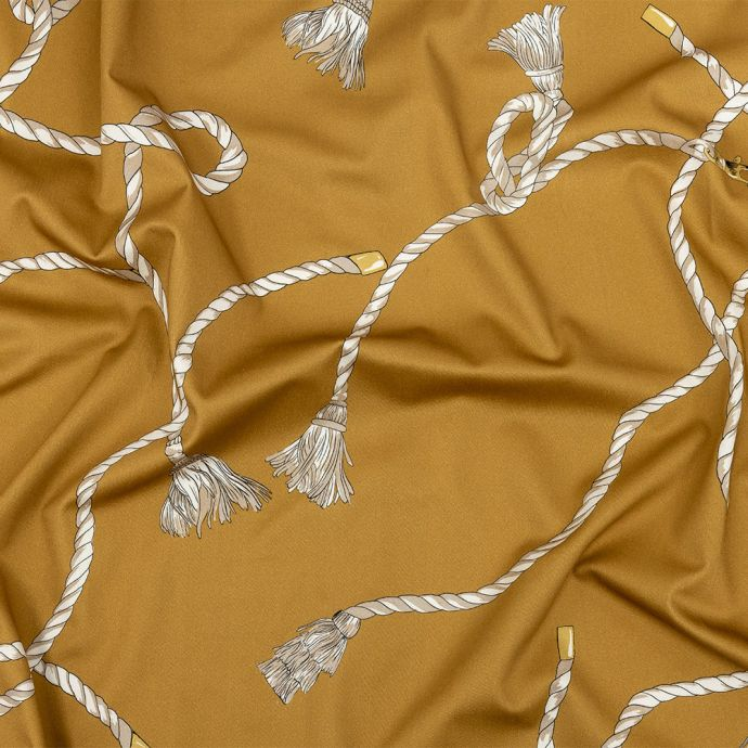 Mood Exclusive Amber Gold Ties Remind Stretch Cotton Sateen