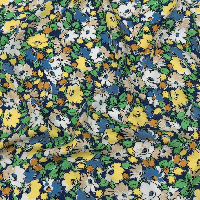 Mood Exclusive Mazarine Blue Butterfly's Home Viscose Twill