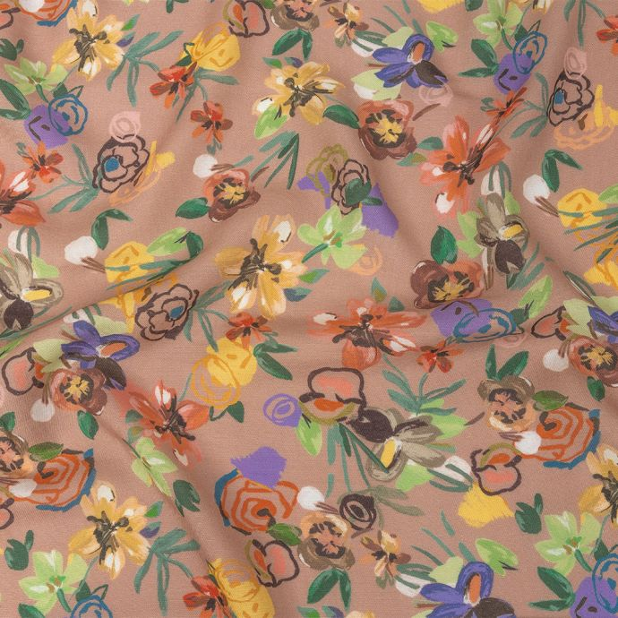 Mood Exclusive Wallflower Whimsy Viscose and Linen Twill