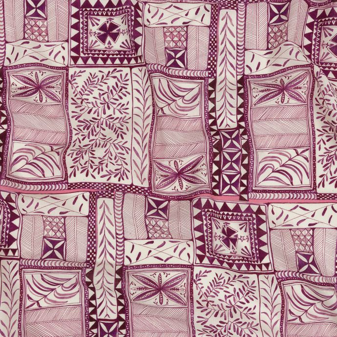 Mood Exclusive Magenta Collector's Botany Lightweight Viscose-Linen Woven