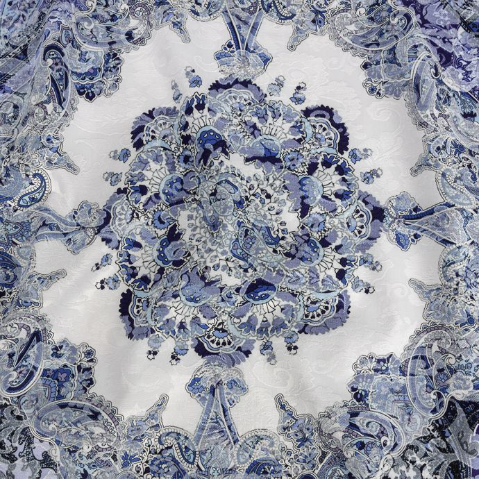 Mood Exclusive Navy Divine Dream Printed Stretch Floral Jacquard
