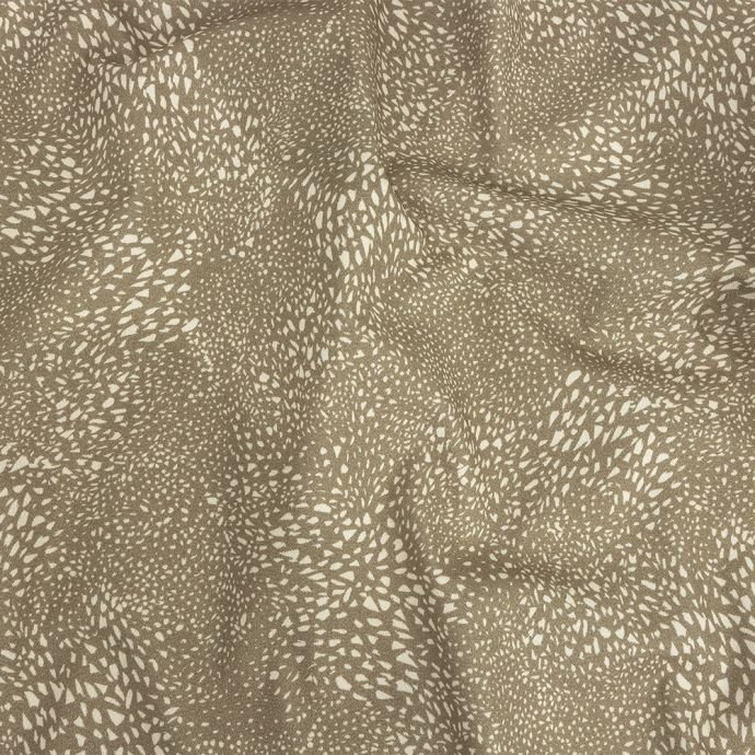 Mood Exclusive Gray Windswept Fields Stretch Brushed Cotton Twill