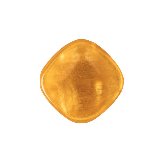 Orange Iridescent Tunnel-Shank Back Button with Needle Channel - 36L/23mm