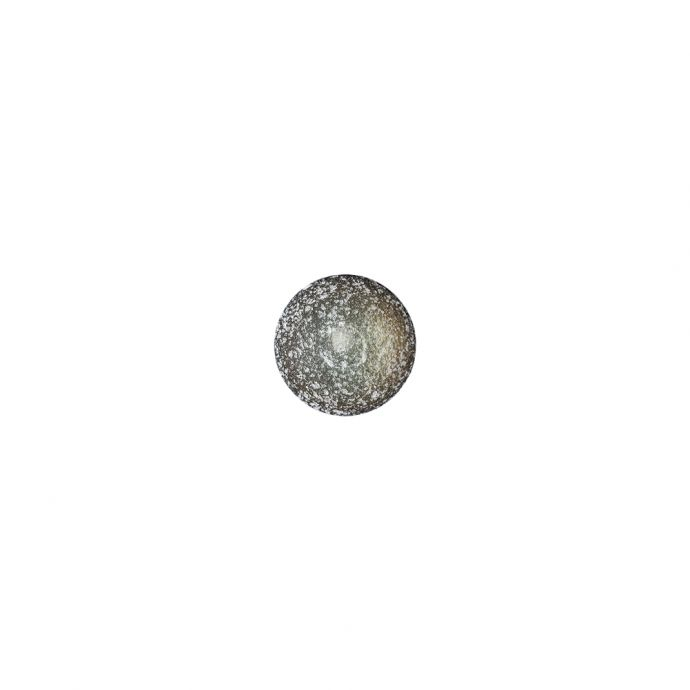 Italian Opal, White and Black Speckled Iridescent Shank Back Button - 13L/8mm