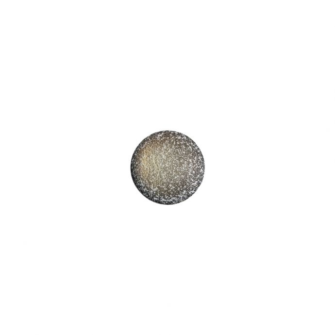 Italian Glow, White and Black Speckled Iridescent Shank Back Button - 14L/9mm