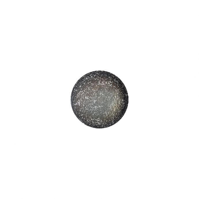 Italian Opal, White and Black Speckled Iridescent Shank Back Button - 17L/10.5mm