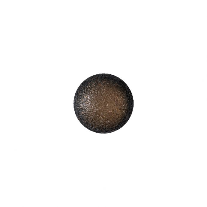 Italian Fiery Orange and Black Speckled Iridescent Shank Back Button - 17L/10.5mm