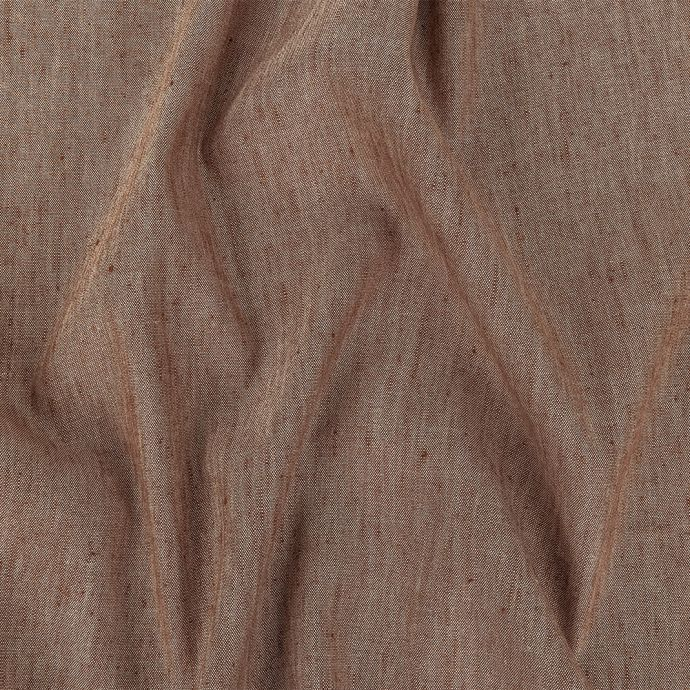 Heathered Cocoa Stretch Linen and Rayon Woven