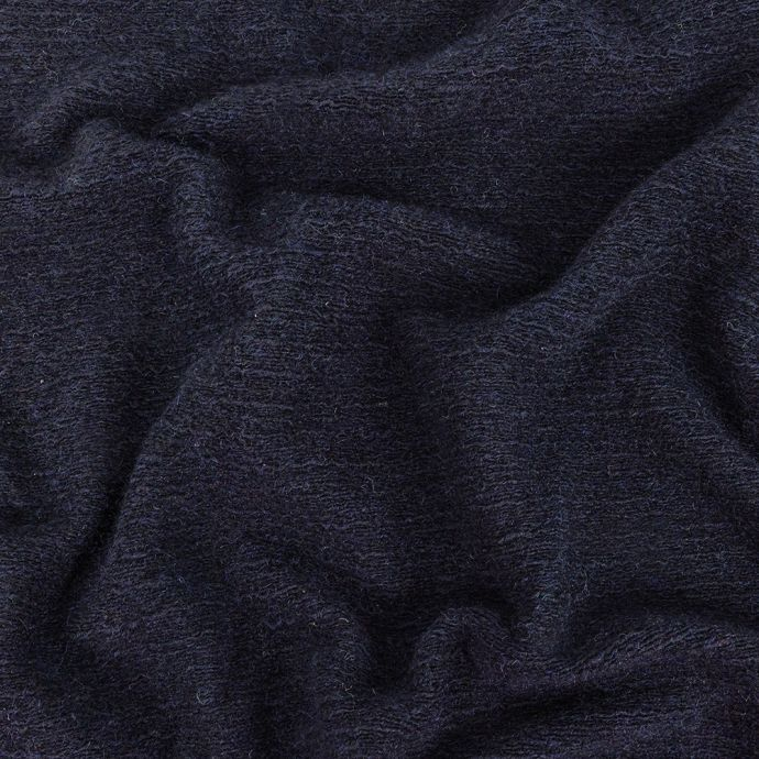 Navy Tactile Fuzzy Wool Knit