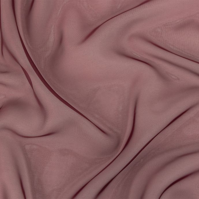 Arcalod Burgundy Double-Wide Polyester Voile