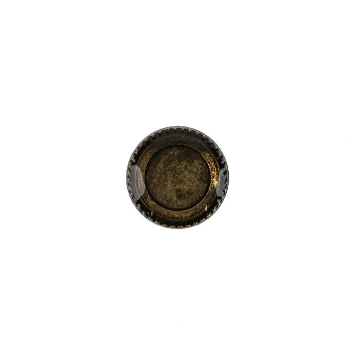 Amber and Bronze Iridescent Resin-Casted Blouse Button - 17L/10.5mm