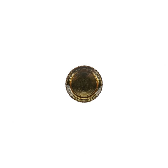 Topaz and Gold Iridescent Resin-Casted Blouse Button - 14L/9mm