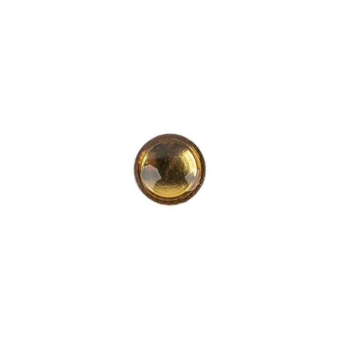 Topaz and Gold Iridescent Resin-Casted Blouse Button - 12L/7.5mm