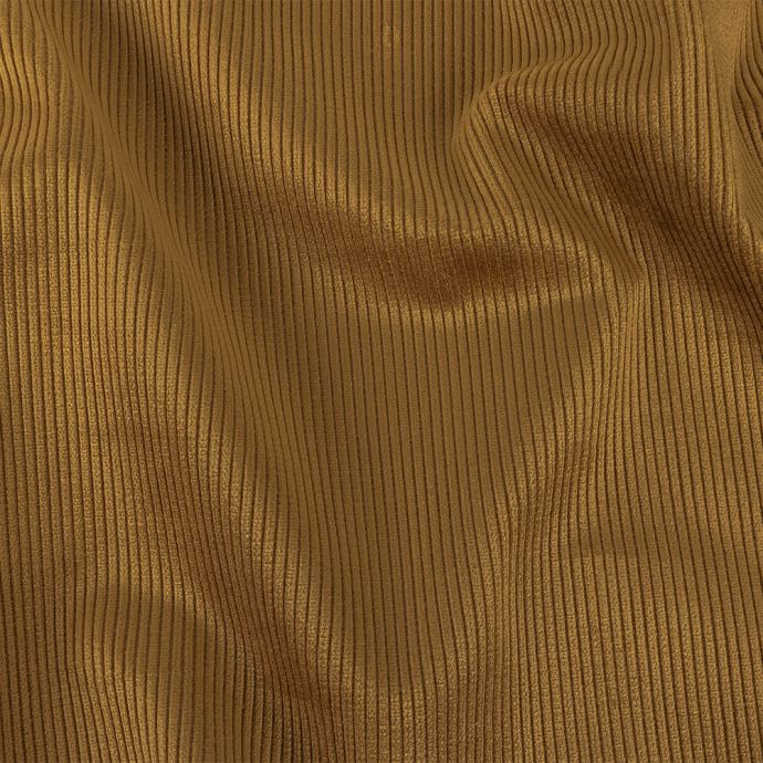 Golden Upholstery Corduroy with Beige Woven Backing