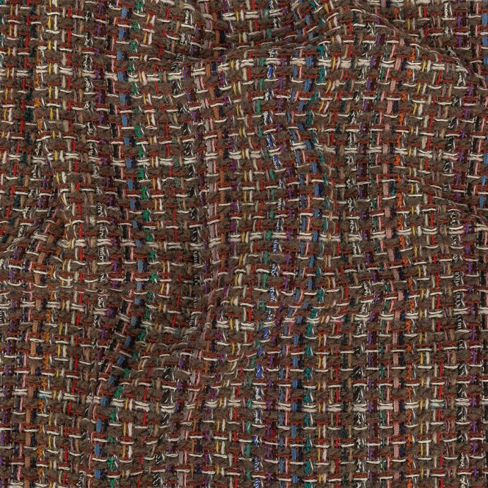 Italian Taupe, Olive and Multicolor Blended Wool Tweed
