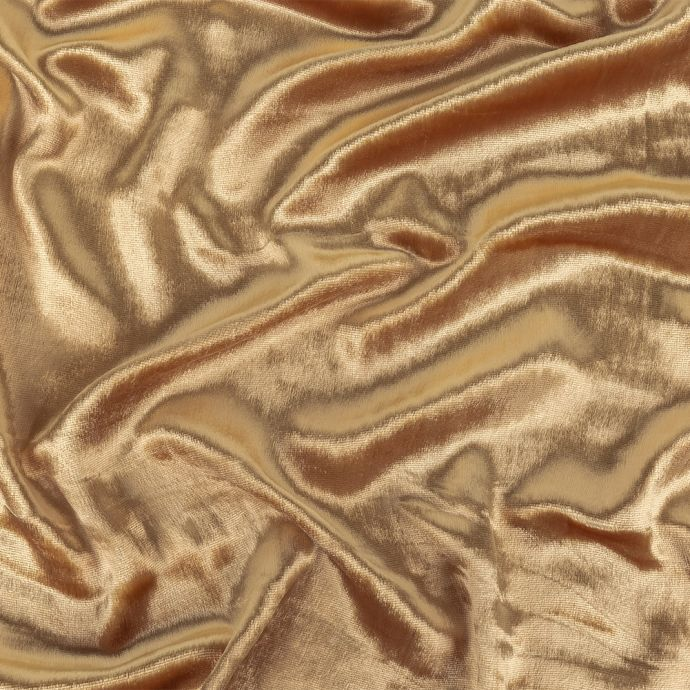 New Wheat Silk and Rayon Penne Velvet