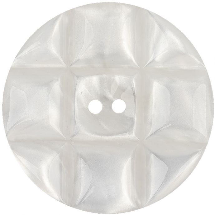 Blanc de Blanc Quilted Iridescent 2-Hole Button - 70L/44.5mm
