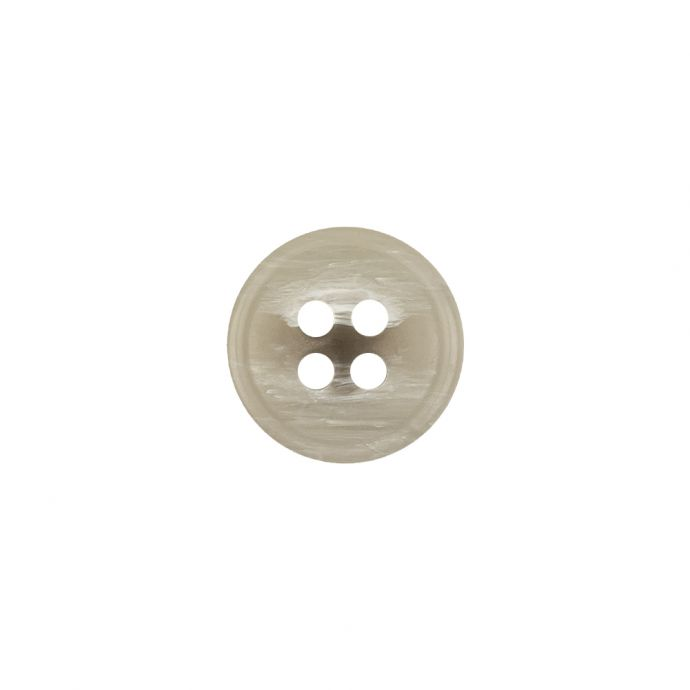 Italian Light Gray and White Striated 4-Hole Plastic Button - 20L/12.5mm