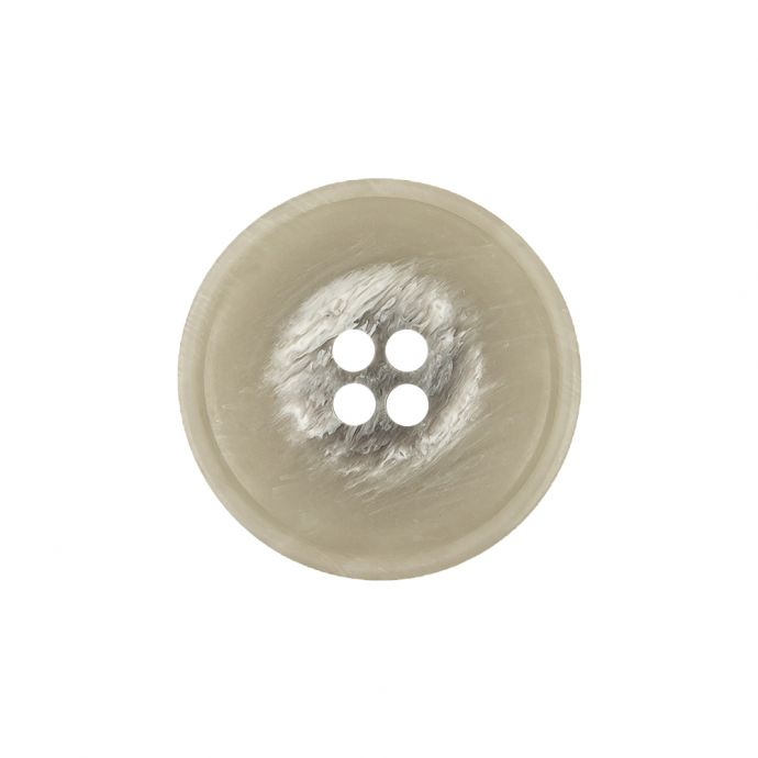 Italian Light Gray and White Striated 4-Hole Plastic Button - 36L/23mm