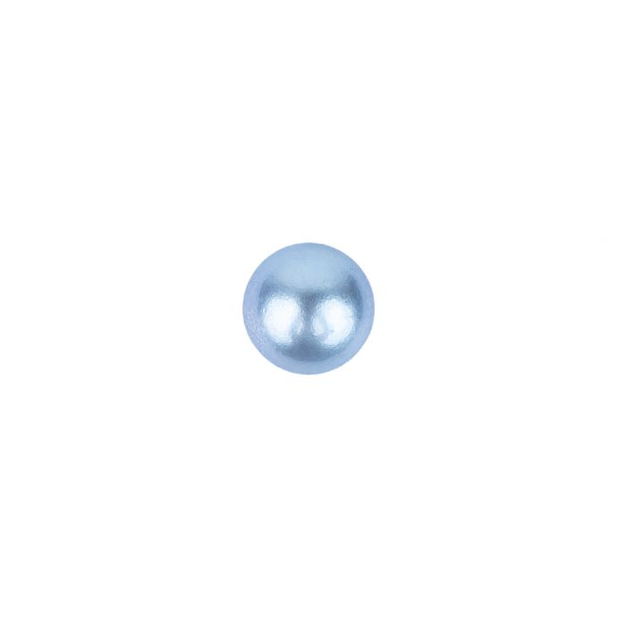 Pearlized Periwinkle Shiny Dome Shaped Shank Back Button - 12L/7.5mm