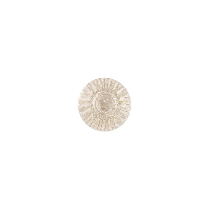 Translucent Clear Abstract Radiating Shank Back Glass Button - 16L/10mm