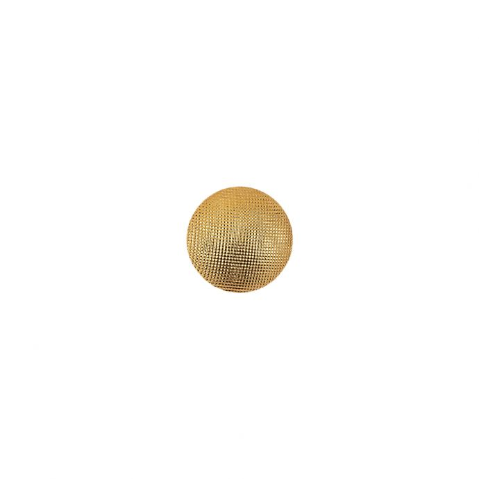 Gold Textured Shank Back Blouse Button - 14L/9mm