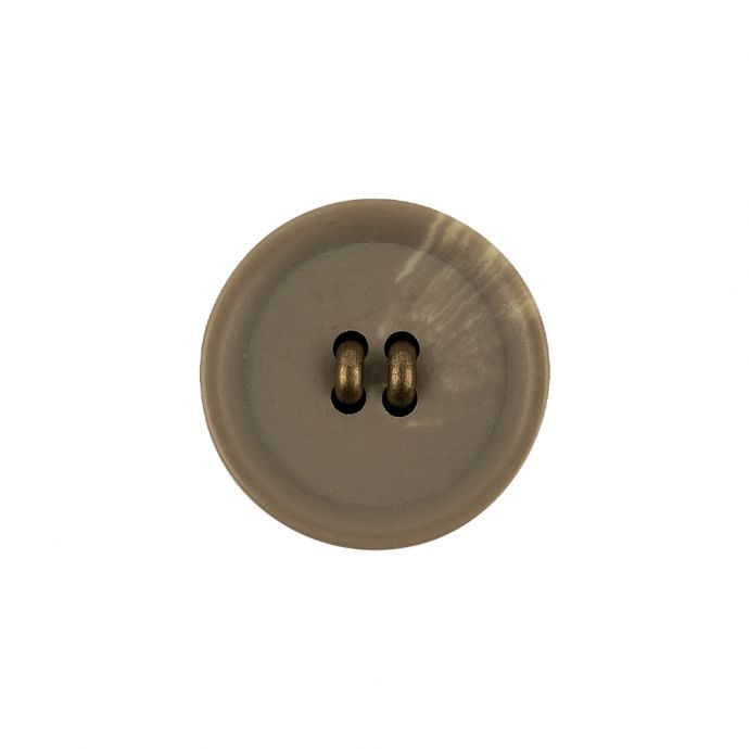 Matte Camo and Brass Shallow Plate Plastic and Metal Shank Back Button - 32L/20mm