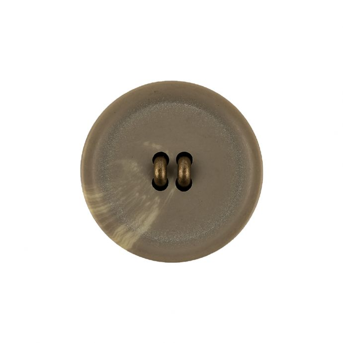 Matte Camo and Brass Shallow Plate Plastic and Metal Shank Back Button - 36L/23mm