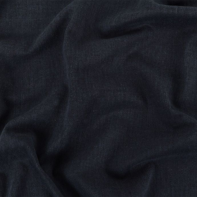 Navy Cotton and Rayon Duvetyne Twill