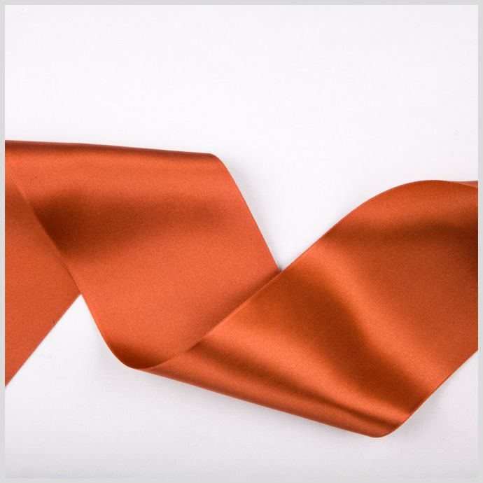 Rust Double Face French Satin Ribbon