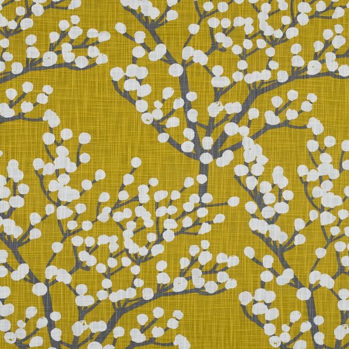 British Imported Mimosa Branches Printed Cotton Woven