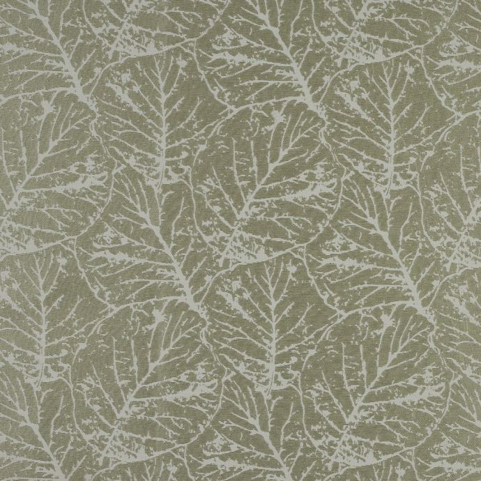 British Imported Fern Satin-Faced Jacquard with Overlapping Leaves